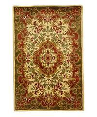 Safavieh Handmade Classic Juliette Ivory/ Green Wool Rug - 4' x 6'