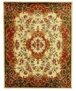 "Safavieh Handmade Classic Juliette Ivory/ Green Wool Rug - 7'6"" x 9'6"" - Thumbnail 0"