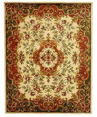 Safavieh Handmade Classic Juliette Ivory/ Green Wool Rug - 7'6 x 9'6