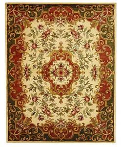 Safavieh Handmade Classic Juliette Ivory/ Green Wool Rug (8'3 x 11') - Thumbnail 0