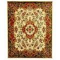 Safavieh Handmade Classic Juliette Ivory/ Green Wool Rug - 8'3 x 11'