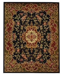 "Safavieh Handmade Classic Juliette Black/ Green Wool Rug - 8'3"" x 11' - Thumbnail 0"