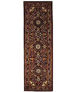Safavieh Handmade Classic Kerman Burgundy/ Navy Wool Runner (2'3 x 12')