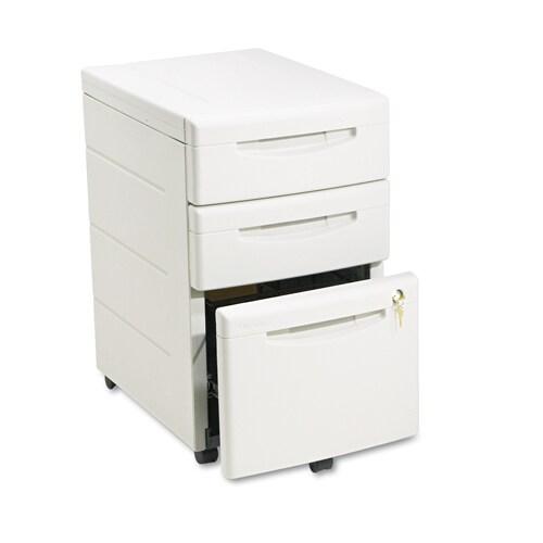 iceberg aspirat 3 drawer underdesk pedestal file cabinet free shipping today. Black Bedroom Furniture Sets. Home Design Ideas