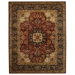 Safavieh Handmade Classic Kerman Burgundy/ Navy Wool Rug - 8'3 x 11' - Thumbnail 0