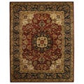 Safavieh Handmade Classic Kerman Burgundy/ Navy Wool Rug - 8'3 x 11'