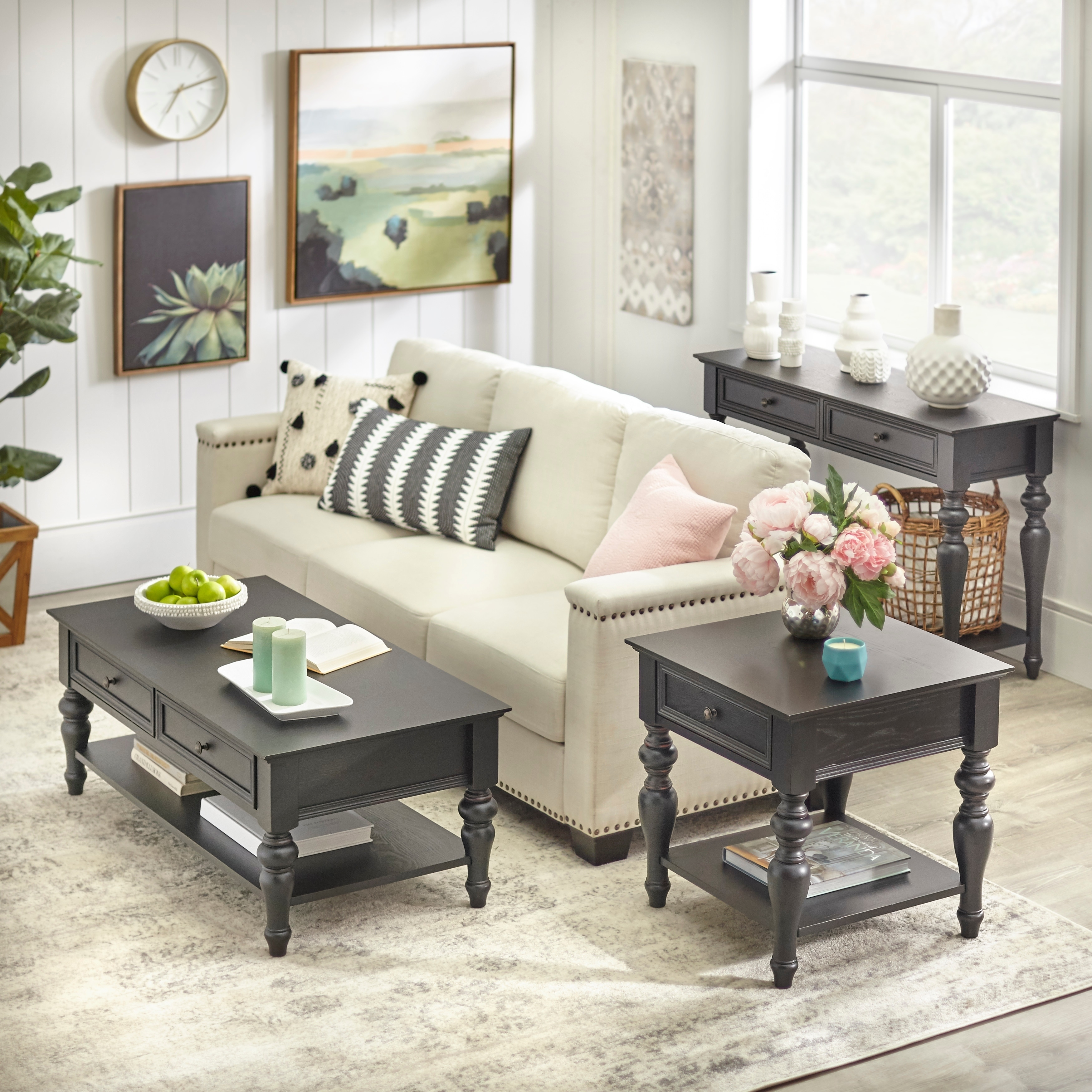 angelo:HOME Richmond 3-Piece Living Room Table Set