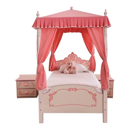 Furniture of America Telfs Pink 3-piece Bedroom Set