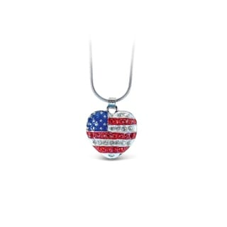 Puzzled American Heart Fashionable Necklace Pendant Jewelry Symbols Collection Unique Gift And Souvenir Item 6312