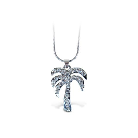 Puzzled Palm Tree Fashionable Necklace / Pendant Jewelry - Beach Collection - Unique Gift and Souvenir - Item #6308