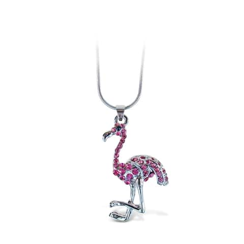 Puzzled Flamingo Fashionable Necklace / Pendant Jewelry - Birds Collection - Unique Gift and Souvenir - Item #6304