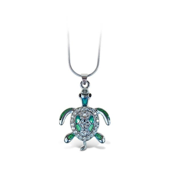 Puzzled Sea Turtle Fashionable Necklace