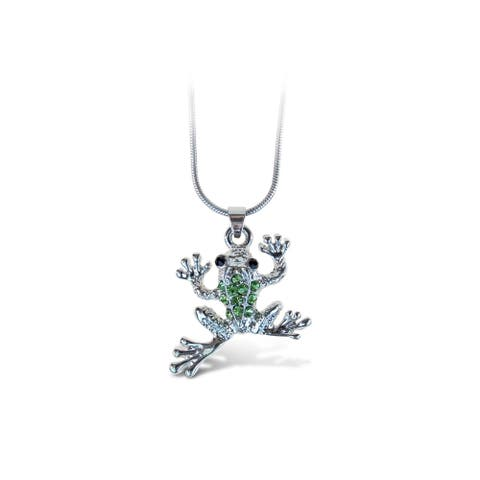 Puzzled Frog Fashionable Necklace / Pendant Jewelry - Animals Collection - Unique Gift and Souvenir - Item #6306