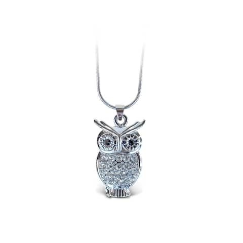 Puzzled Owl Fashionable Necklace / Pendant Jewelry - Birds Collection - Unique Gift and Souvenir - Item #6307