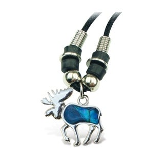 Puzzled Aqua Moose Wild Style Necklace 18 Inch
