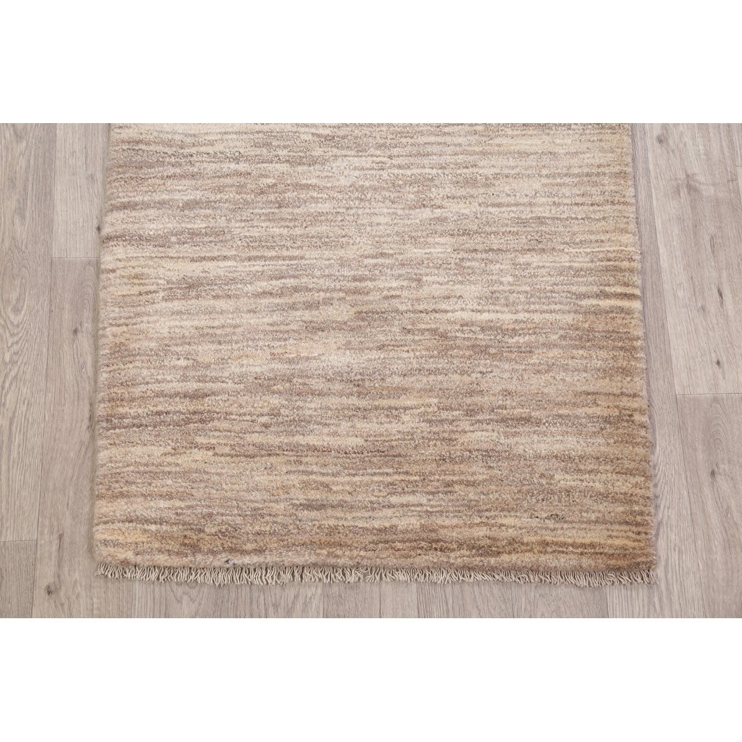 Stripe Gabbeh Modern Hand Knotted Wool Carpet Rustic Persian Area Rug 3 10 X 2 11 On Sale Overstock 29436131
