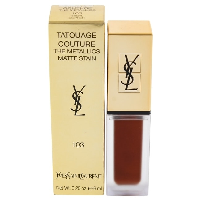 Yves Saint Laurent Tatouage Couture The Metallics Lip Gloss - 103 Tribal Copper 0.2 oz Lip Gloss COSMETIC