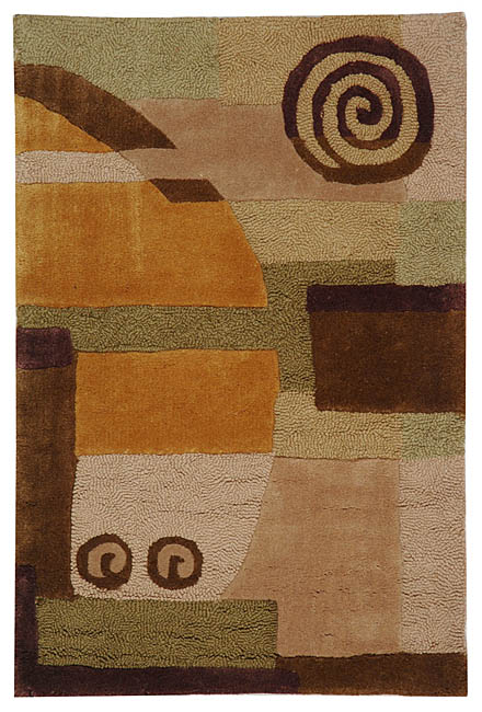 "Safavieh Handmade Rodeo Drive Modern Abstract Beige Wool Rug - 2'6"" x 4'6"""
