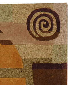 Safavieh Handmade Rodeo Drive Modern Abstract Beige Wool Rug (2'6 x 4'6) - Thumbnail 1