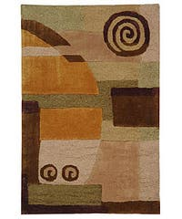 Safavieh Handmade Rodeo Drive Modern Abstract Beige Wool Rug - 2'6 x 4'6