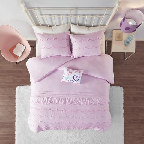 Mi Zone Stella Pink Duvet Cover Set