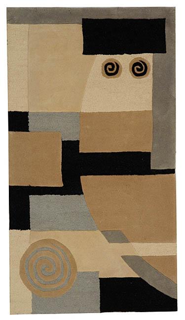 Safavieh Handmade Rodeo Drive Modern Abstract Ivory/ Grey Wool Rug (5' x 8')