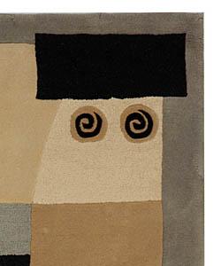 Safavieh Handmade Rodeo Drive Modern Abstract Ivory/ Grey Wool Rug (5' x 8') - Thumbnail 1