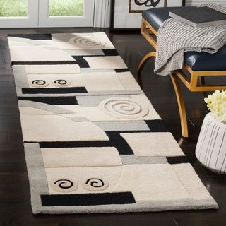 Safavieh Handmade Rodeo Drive Ralda Mid-Century Modern Abstract Wool Rug (26 x 12 Runner - Assorted)