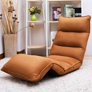 Upholstered Lazy Sofa Floor Sofa Chair Folding Sofa Couch Lounger