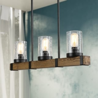 """Farmhouse Pendant Lighting with 3 lights Hanging Ceiling Lighting Fixture - L25.6 x W4.7"""" x H7.5"""""""