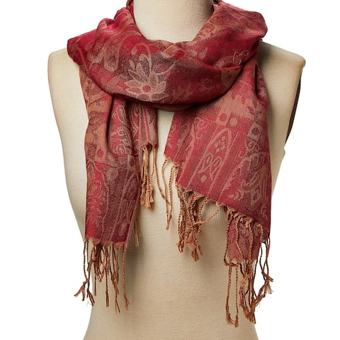 Acrylic Paisley Jacquard Women Shawl Wrap Long Scarves & Wraps