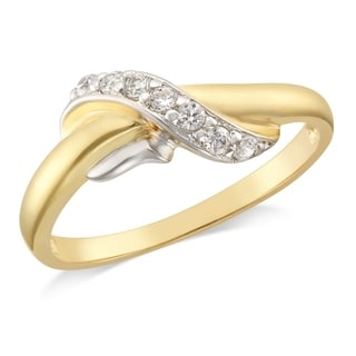 Forever Last 10Kt Yellow Ladies Fashion Ring With Cubic Zirconia