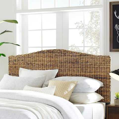The Curated Nomad Tomkins Queen-size Banana Leaf Headboard
