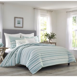 Link to Relax by Tommy Bahama Clearwater Cay Blue Duvet Cover Set Similar Items in Duvet Covers & Sets
