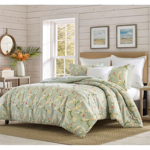 Relax by Tommy Bahama Bananas For You Green Duvet Cover Set