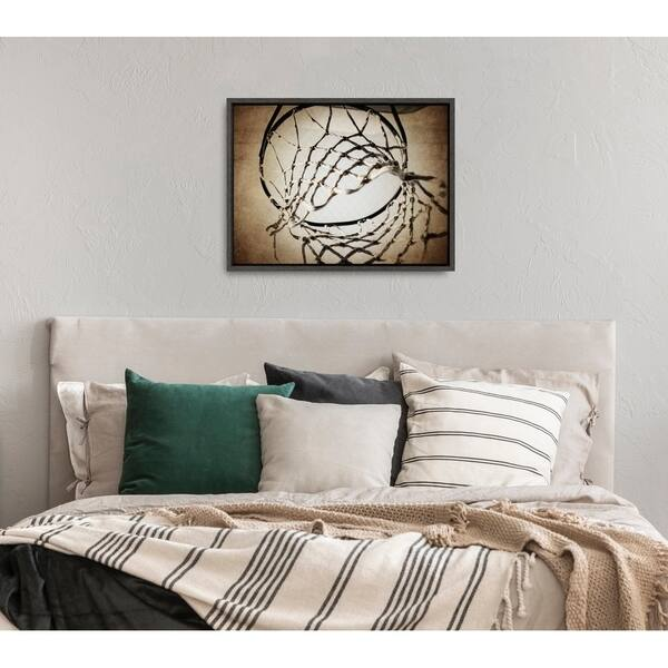 Shop Black Friday Deals On Designovation Sylvie Basketball Net Canvas Wall Art By Shawn St Peter Overstock 29439578
