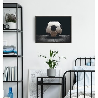 DesignOvation Sylvie Soccer Ball Framed Canvas by Shawn St. Peter