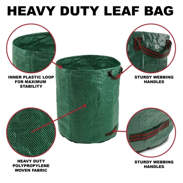 GF Garden in Plastic for Leaves Sack Trolley Waste with Lid and Wheels