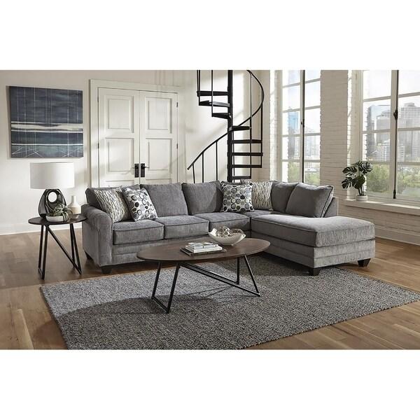 Sofa Trendz Franco Smoke Grey Sectional