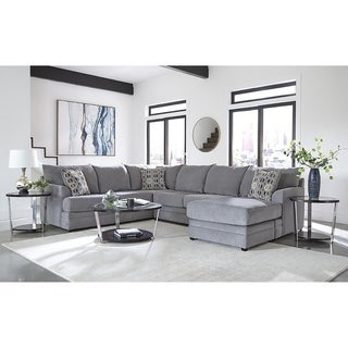 Sofa Trendz Fidelita Smoke Grey Sectional