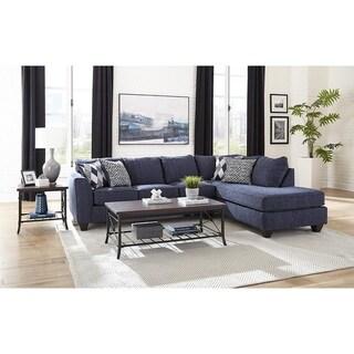 Sofa Trendz Floe Denim Blue Sectional