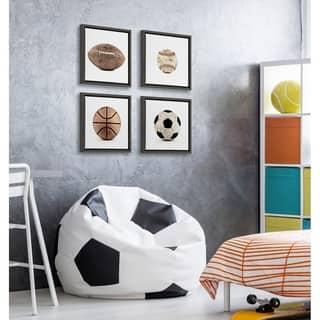 DesignOvation Sylvie Sports Framed Canvas Art Set by Shawn St. Peter - Gray