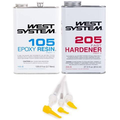 West System 105-B Epoxy Resin with Fast Epoxy Hardener & Mini Pump Set