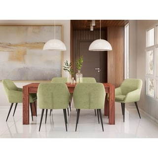 WYNDENHALL Marsden Contemporary II 7 Pc Dining Set  with 6 Upholstered Dining Chairs and 72 inch Wide Table