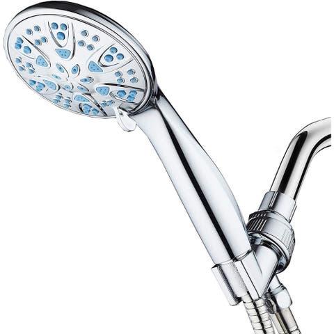 AquaDance Microban Blue Antimicrobial 6 Setting 4 inch Hand Shower