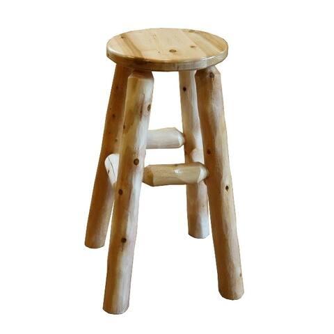 White Cedar Log Kitchen stools