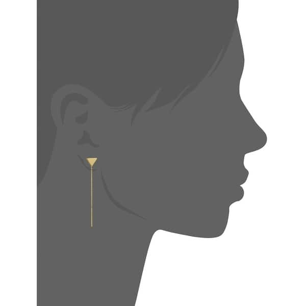 Details about  /14k 14kt Yellow Gold Bead Threader Dangle Earrings 42.23 mm