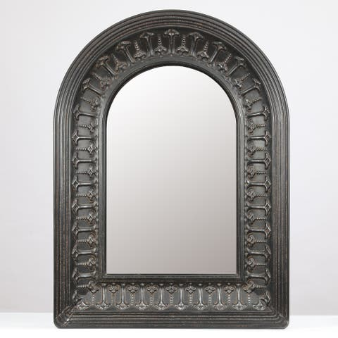 Metal Arched Scroll Wall Mirror