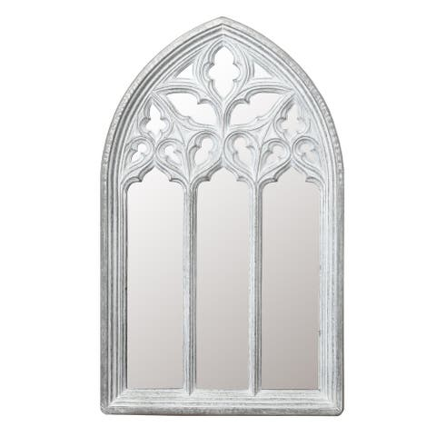 Metal Arched Window Wall Mirror