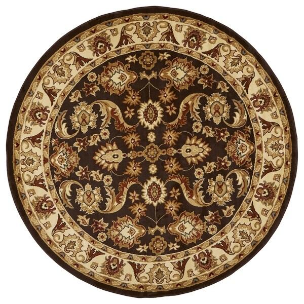 """LR Home Adana Traditional Olefin Round Indoor Rug (6'2 Round) - 6'2"""" Round"""